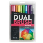 """Tombow Dual Brush Pens (shown in """"Bright"""" color palette)"""
