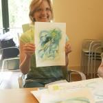 Pam, sharing the art she created