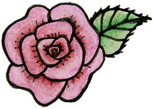 Rose doodle from The Creative Sandbox Way by Melissa Dinwiddie