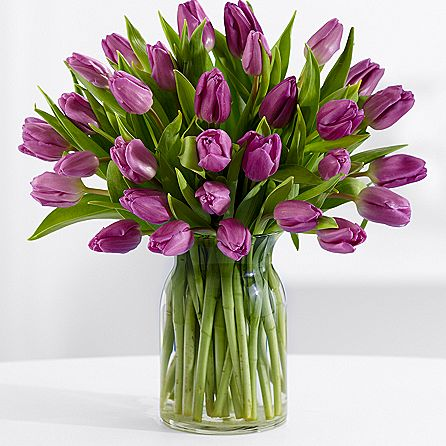 30 Purple Tulips Bouquet from #ProFlowers