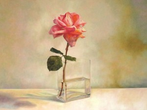 One Candle - oil painting by Laureen Marchand