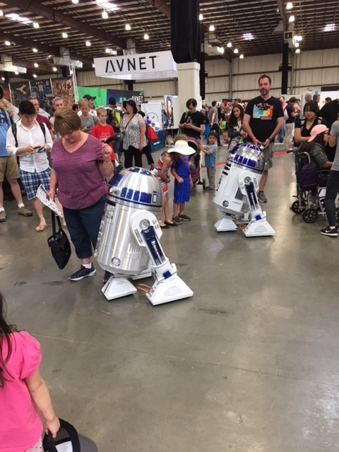 R2D2 units, rolling around the floor!