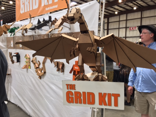 The Grid Kit at Maker Faire - Cardboard constructions