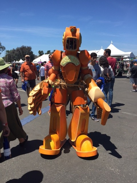 Maker Faire - robot suit!