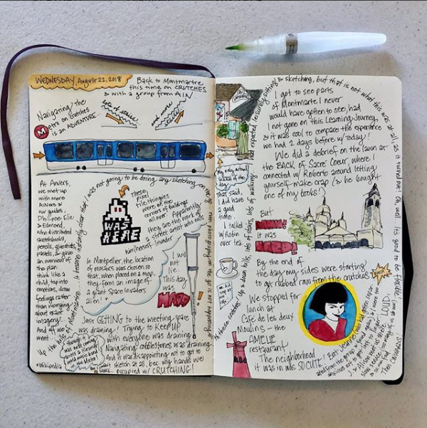 Paris journal - page spread from August 23, 2018