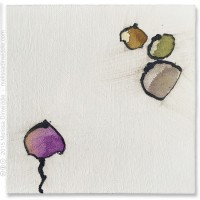 "Zen - 6"" x 6"" abstract mixed media painting by Melissa Dinwiddie"