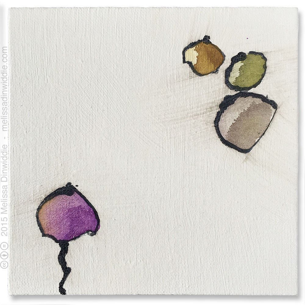 """Zen - 6"""" x 6"""" abstract mixed media painting by Melissa Dinwiddie"""