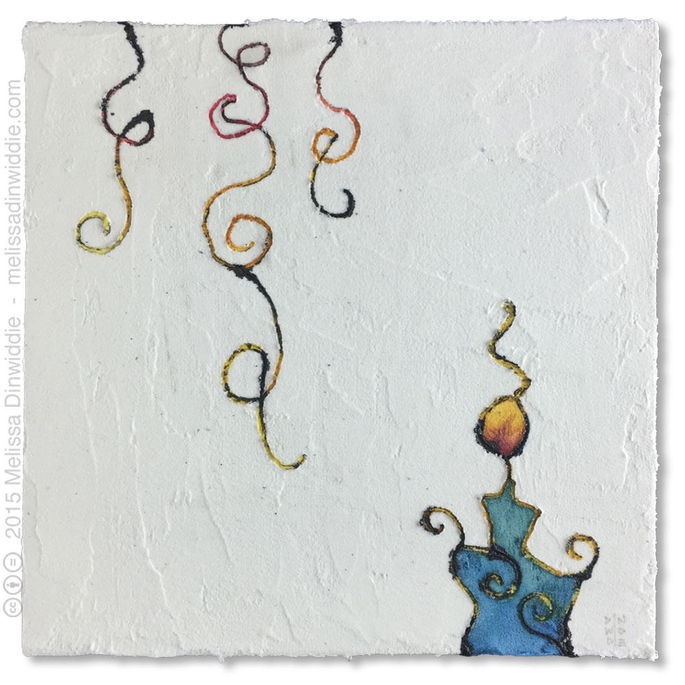 "6"" x 6"" mixed media abstract daily painting by Melissa Dinwiddie"