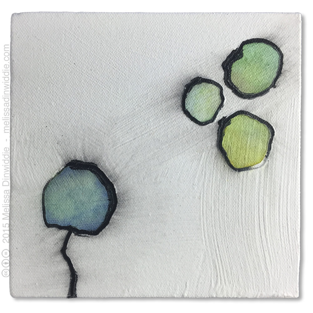 "Good Day - 6"" x 6"" mixed media abstract daily painting by Melissa Dinwiddie"
